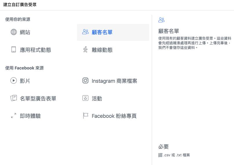 FB廣告 客戶名單