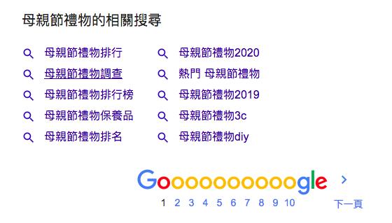 Google搜尋引擎找關鍵字